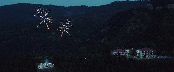 Πυροτεχήματα πάνω από τον Αή Γιώργη