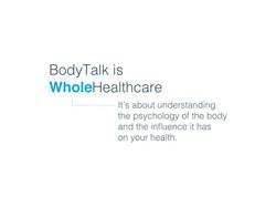 BodyTalk with Sherry Gilbert