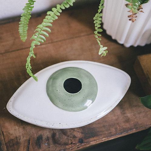 Keramikschale mit Deckel - Auge