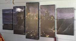 Hogwarts Castle 5-panel canvas