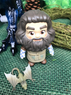 Hagrid delivering baby Dragons.