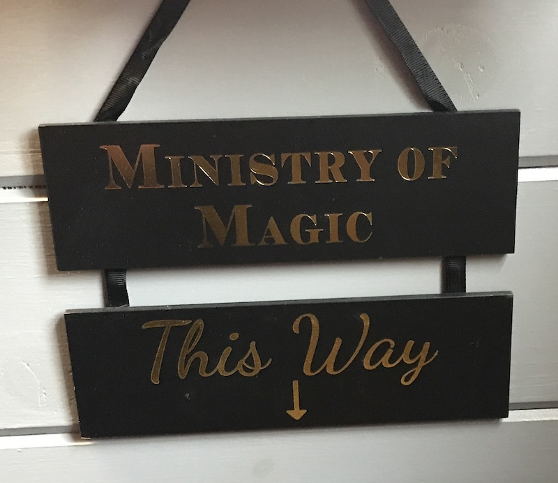 Ministry of Magic sign