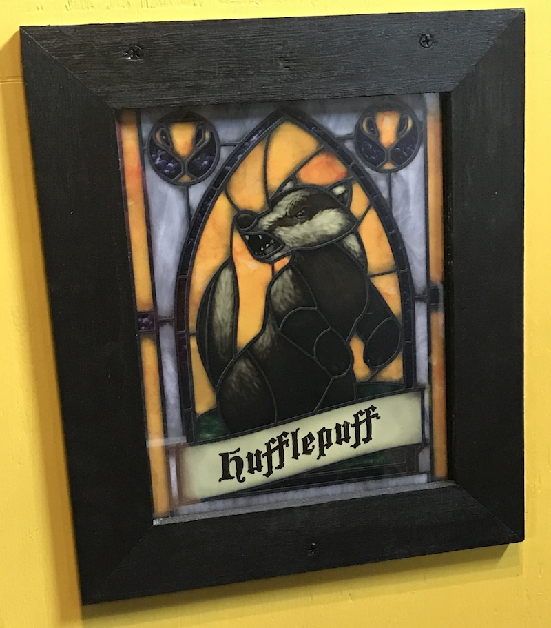Hufflepuff Crest Window Cling