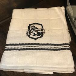 Hufflepuff dish towel