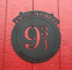 Platform 9 3_4 metal sign