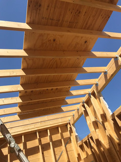 Roof sheathing from inside