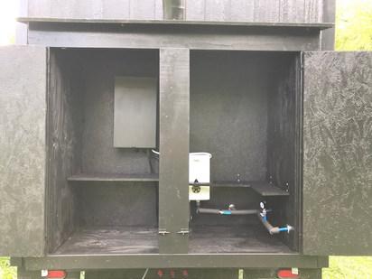 Finished utility box
