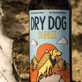 Dry Dog Dunkel: Bottle Design