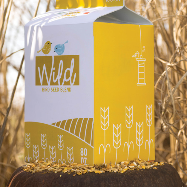 Eco Friendly Bird Seed Packaging: Left