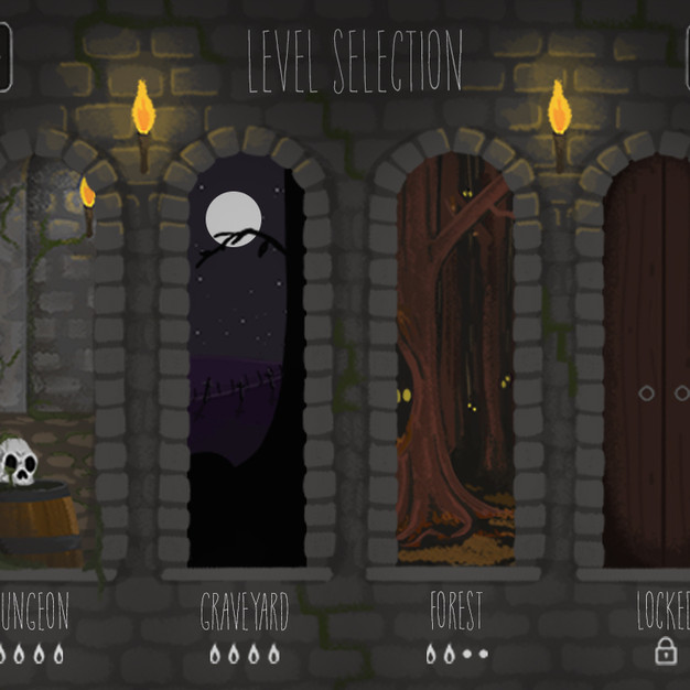Lester's Lantern: iPad Game Design, World Select Screen