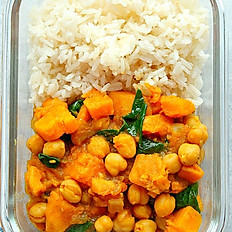 Veg Curry Over Rice