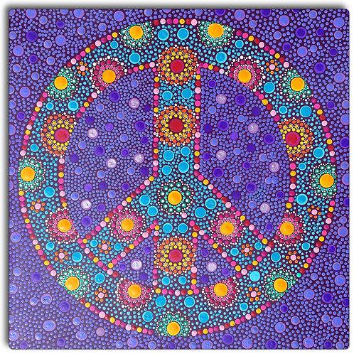 "Peace ""Psychedelic Love""Mandala"