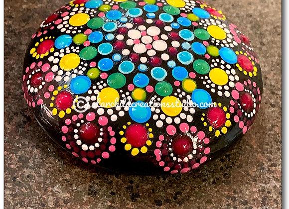 3D Mandala Stone - Candy Swirl