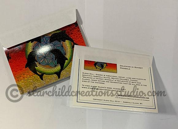 Art Card - Dolphin Mandala