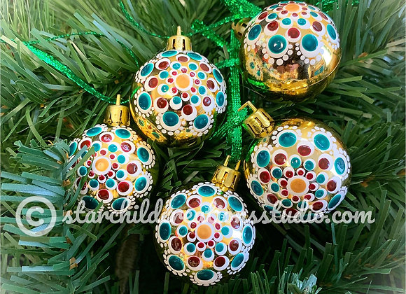 Holiday Ornaments - Cranberry Snowdrop