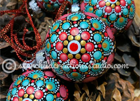 Holiday Mandala Ornament - Rose Ponsettia