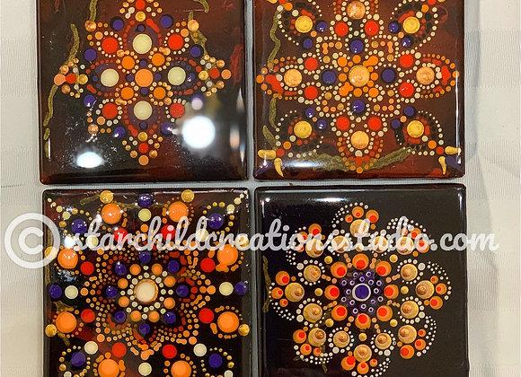 Bronze Kinzugi Mandala Coasters