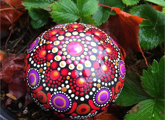 3D Mandala Stones - Reds & Golds