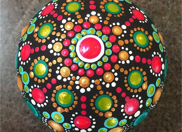 3D Mandala Stone - Holiday Joy
