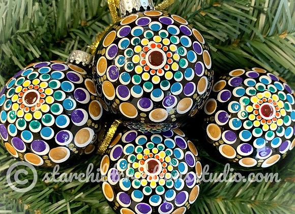 Holiday Mandala Ornament - Rainbow Multi