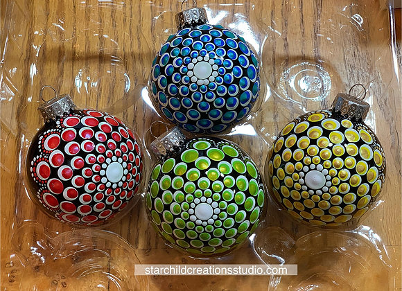 Holiday Mandala Ornaments - Metallics