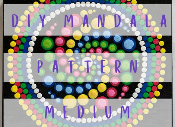 DIY Mandala Pattern - Candy Spiral Mandala