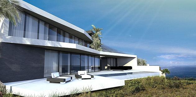 Architecte villa contemporaine luxe Mougins cote d\'azur