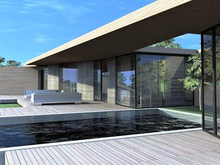 Maison contemporaine sud de la France villa design cote d'azur