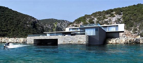 maison contemporaine bord de mer cannes