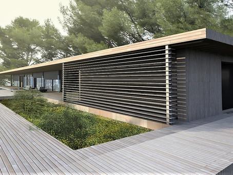 Maison contemporaine design bois à Aix en Provence