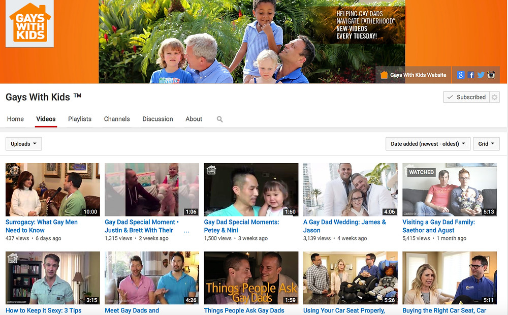 Case Study: Gays With Kids YouTube Channel Audit