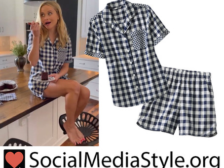 Reese Witherspoon's Draper James x Lands' End gingham pajamas