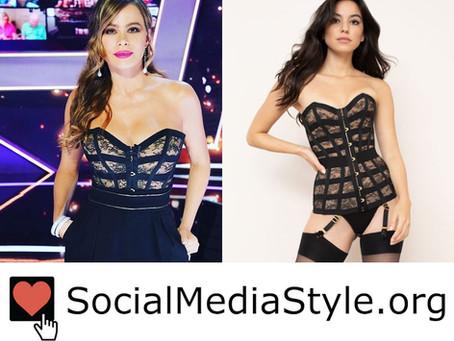 Sofia Vergara's black corset top from America's Got Talent