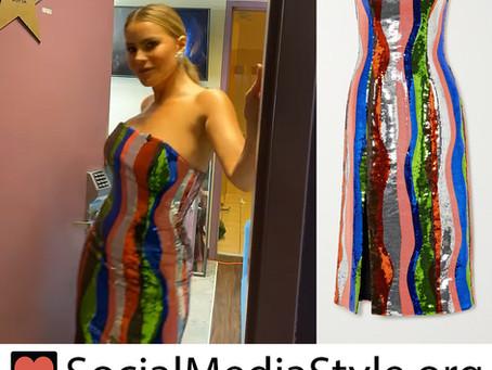 Sofia Vergara's sequin striped dress from America's Got Talent
