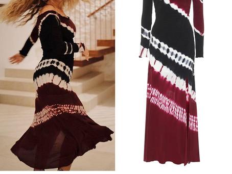 Adele's off-the-shoulder tie dye dress