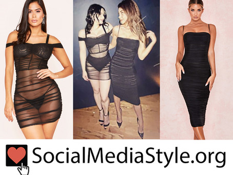 Ariel Winter and Sarah Hyland's ruched black dresses