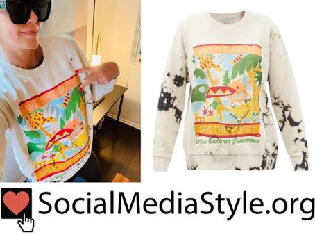 Charlize Theron's Stella McCartney x Greenpeace Rainforest Sweatshirt