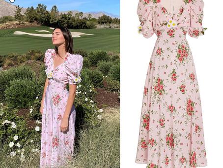 Kendall Jenner's floral print dress
