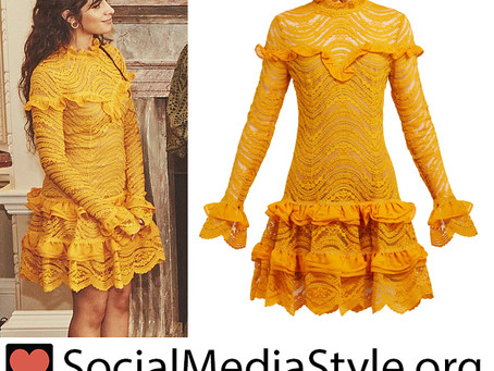 Camila Cabello's ruffled yellow dress
