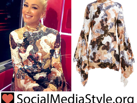 Gwen Stefani's sequin camo dress from The Voice