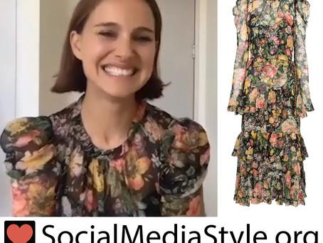 Natalie Portman's floral print dress