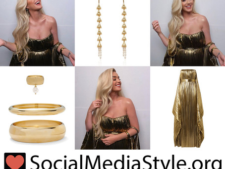 Katy Perry's gold gown and jewelry
