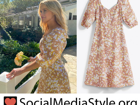 Reese Witherspoon's Draper James yellow floral print dress