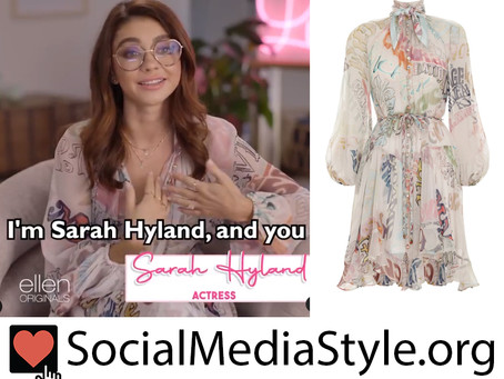 Sarah Hyland's word print dress from Lady Parts