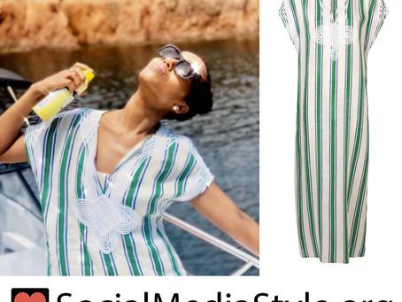 Kerry Washington's striped caftan