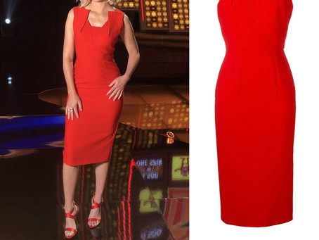 Elizabeth Banks' red dress from Press Your Luck