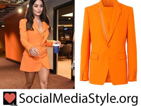 Vanessa Hudgens' orange blazer from the 2021 NBA Finals