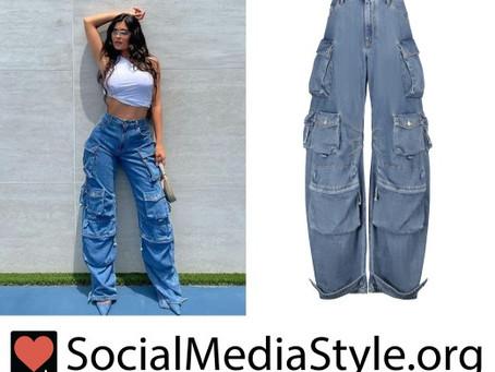 Kylie Jenner's wide leg jeans