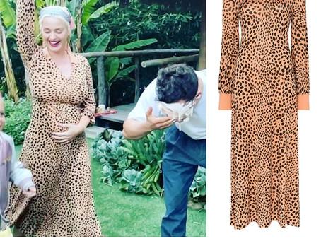 Katy Perry's leopard print dress