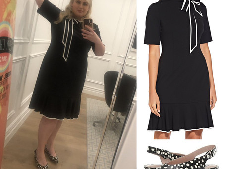 Rebel Wilson's nautical dress and polka dot flats